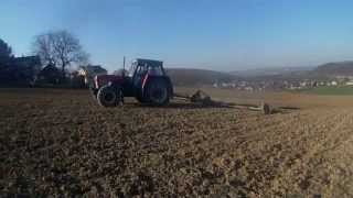 Vláčení 2015-Zetor 12145+Brány /HD/