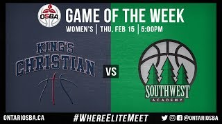 OSBA GOTW: King's Christian vs. Southwest Academy (Men's) | Kholo.pk