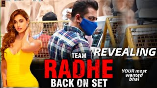 Radhe Movie Team Back On Shooting Set Puri Huyi Gaane Ki Shooting Salman Khan #DishaPatani  #salman