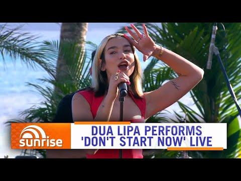 Dua Lipa performs 'Don't Start Now' live on Hamilton Island, Australia   Sunrise
