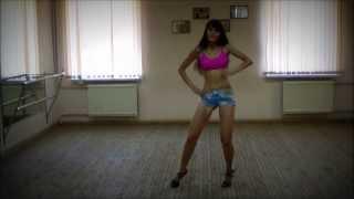 David Guetta Feat. Ne-Yo & Akon - Play Hard / GO-GO, High Heels dance