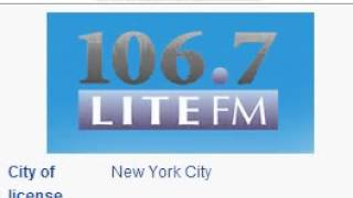WLTW 106.7 Lite FM New York, NY TOTH ID at 7:00 p.m. 7/17/2014