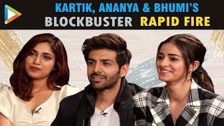 Kartik, Ananya & Bhumi's MADDEST & CRAZIEST Rapid Fire Ever   Pati Patni Aur Woh