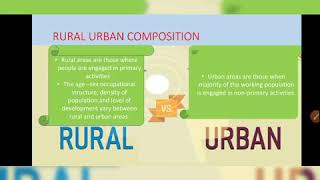 Chpt 3 Rural Urban Composition I PART 2 I POPULATION COMPOSITION