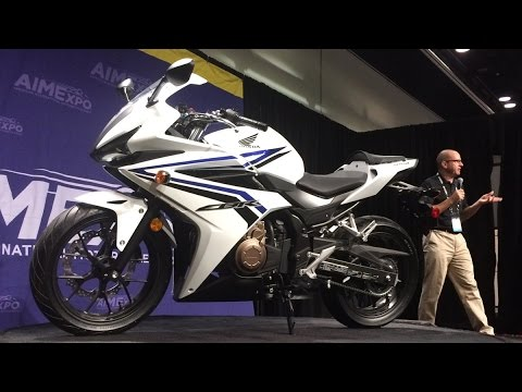 First Look at the 2016 Honda CBR500R from AIMExpo 2015