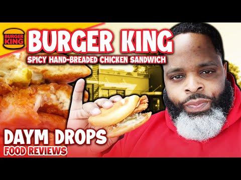 NEW Spicy Burger King Hand-Breaded Chicken Sandwich