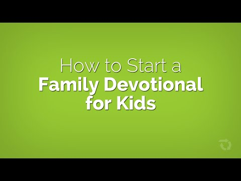 How to Start a Family Devotional with Little Kids