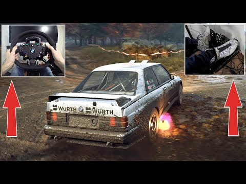 DiRT Rally 2.0 - BMW M3 E30 Evo FLAT-OUT on MUD with Fanatec Wheel, E-Brake & Pedal GAMEPLAY!
