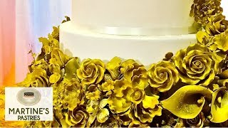 Wedding Cakes Designs : Flowers Sugar Gold And Fresh For Your Wedding Cakes   Martines Pastries