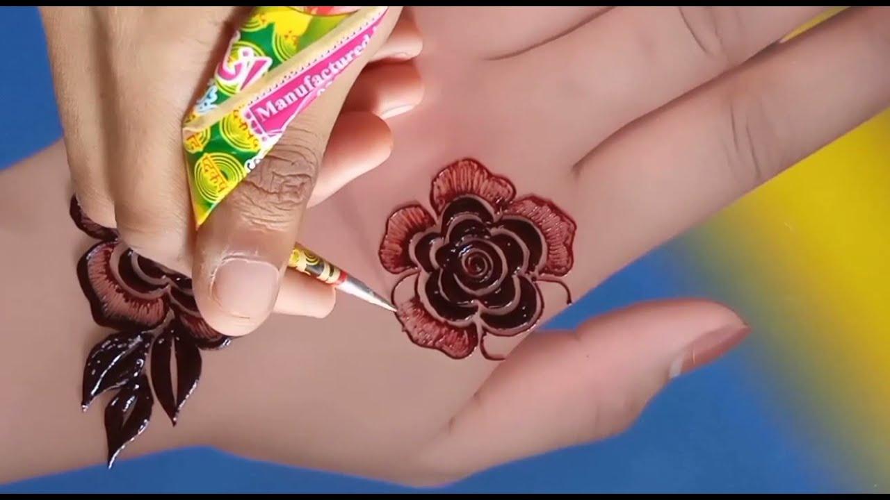 simple & easy mehndi designs flower mehndi design for back hands by sadia