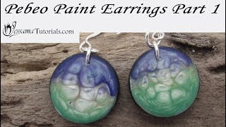 Polymer Clay Project: Pebeo Paint Earring Tutorial Part 1