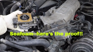 Seafoam--can't believe what it did to my engine part 2--throttle body clean!!
