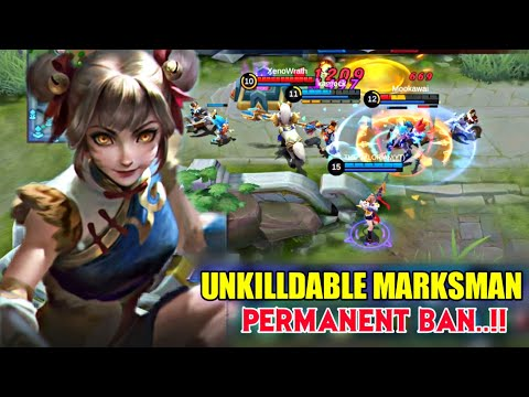 UNSTOPPABLE MARKSMAN WANWAN GAMEPLAY • MOBILE LEGENDS NEW HERO WANWAN