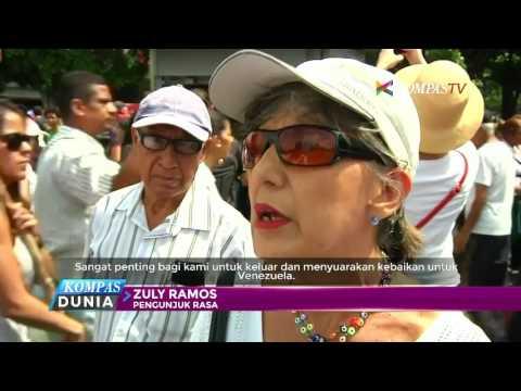 Puluhan Ribu Perempuan Venezuela Demo Tuntut Perdamaian