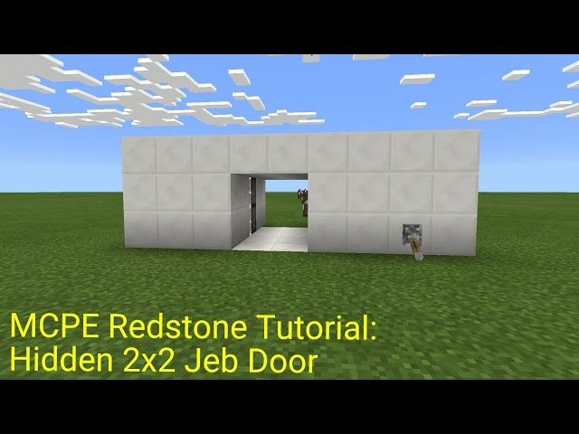 Minecraft-pocket-edition-redstone-tutorial  sc 1 st  6Yea & Classic Jeb Door Mcpe how to make a simple minecraft redstone door ...