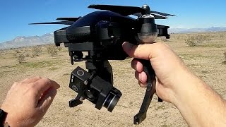 Simtoo Dragonfly Pro Folding Follow Me Drone Flight Test Review