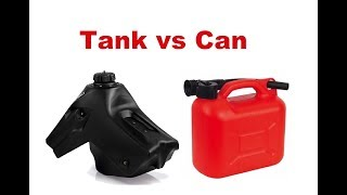 Long Motorcycle Trip - Oversize Tank Or Simple Petrol Can, Which One Is Better?