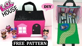 DIY LOL Surprise Doll Miniature DollHouse Purse 🏠 Free PDF Pattern Easter Basket 2020 Idea