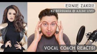Vocal Coach Reacts! Ernie Zakri! Ku Bersuara Live @ AJL34!