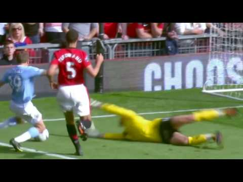 Most Dramatic Manchester Derby Man UTD v Man City 4-3 English commentary HD