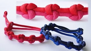 "How to Make a ""True Lovers Knot"" Mad Max Adjustable Style Paracord Friendship Bracelet"