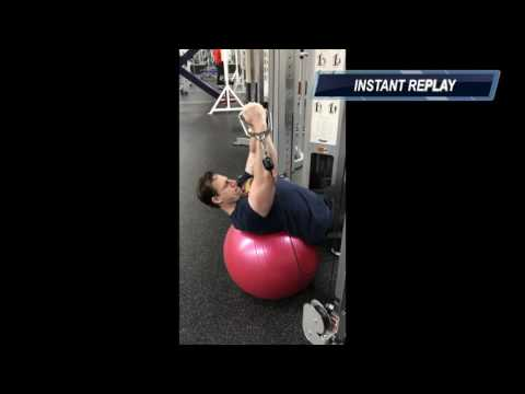 Incline Flys on Stability Ball  (Instructional)