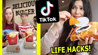 We Tested Viral TikTok FOOD HACKS... *McDonalds, Doritos, Cheese Sandwich, Chocolate* ⚠️Caro Trippar
