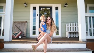 2019 DIY FARMHOUSE FRONT PORCH TOUR