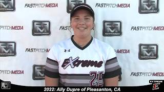 2022 Ally Dupre Power Hitting First Base Softball Skills Video - Extreme Fastpitch