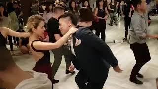 """Quiereme - Johnny Sky """"Judith y Roman"""" Bachata Social Dancing! 바차타"""