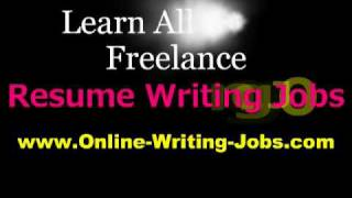 My Freelance Career : All About Freelance Resume Writing Jobs
