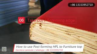 How to post form laminate, hpl for countertop?