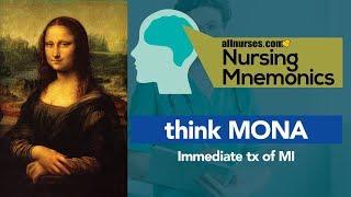 View the video Nursing Mnemonics: MONA - Immediate treatment of MI