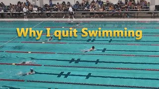 Why I quit Swimming