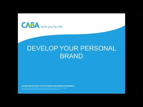 Develop your personal brand