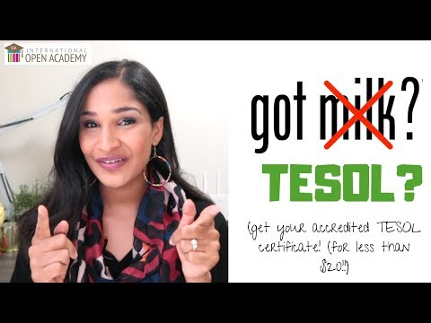 Do you have your TESOL? - YouTube