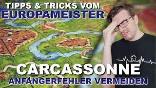 Carcassonne - So GEWINNST du JEDES Spiel (Anfängerfehler) - Tipps, Tricks & Strategien #1