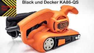 Bandschleifer Black und Decker KA86 QS - Werkzeug Test