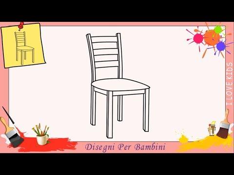 Come disegnare una sedia FACILE passo per passo per bambini 2