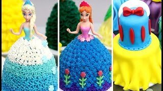 10 Amazing Disney Princess Mini Cakes COMPILATION| Easy Cake Decorating For Birthday