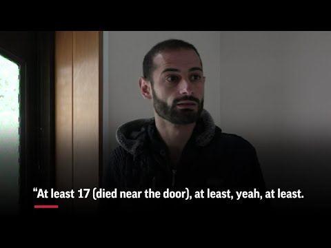 Survivors of the mosque attacks in New Zealand describe terror at a door they couldn't open while trying to escape the shooting in the Al Noor mosque. (March 28)