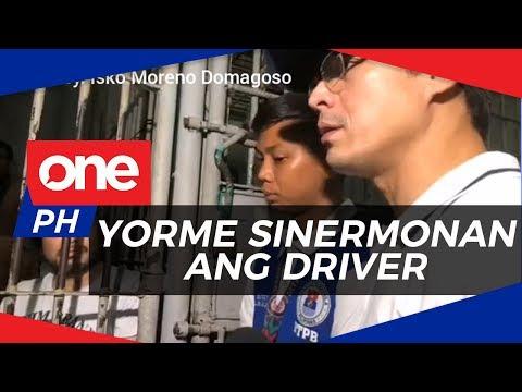 WATCH | Yorme Isko, sinermunan ang driver na nangkaladkad sa traffic enforcer