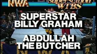 NWA WCW Wrestling Billy Graham vs Abdullah The Butcher