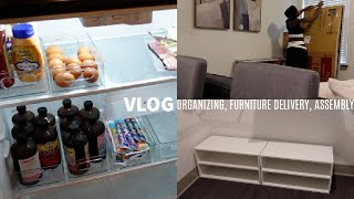 Moving Vlog: Kitchen Organizing, My Furniture Arrived, & Unpacking l Too Much Mouth Vlogs