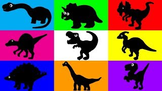 How to Draw Dinosaur for Children | Learn How to Draw 9 Dinosaurs