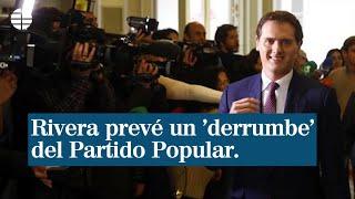 """Albert Rivera al PP: """"Si pierde militantes"""" y """"se desinfla"""" debería pensar """"qué está haciendo mal"""""""