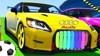 Мультики про машинки. Цветные  машинки Audi GT. Супер гонки. Спортивные Тачки для детей.