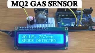 How TO USE MQ2 GAS SENSOR WITH ARDUINO FOR SMOKE DETECTION.