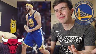 WARRIORS HATER REACTS TO KLAY DROPPING 52 POINTS.. THIS ISNT FAIR