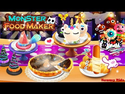 Halloween Monster Food Maker! Vampire Party Night Trick or Treat Gameplay for Kids